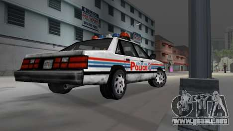 BETA Police Car para GTA Vice City vista lateral izquierdo