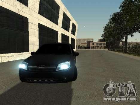 VAZ 2190 para GTA San Andreas vista hacia atrás