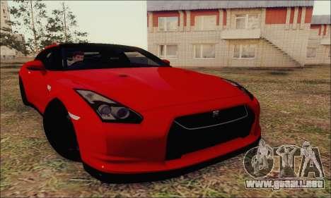 Nissan GT-R Spec V para visión interna GTA San Andreas