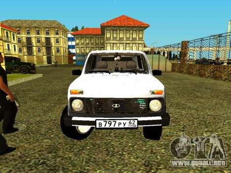 VAZ 21214 para la visión correcta GTA San Andreas