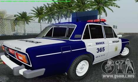 Policía 2106 VAZ para vista inferior GTA San Andreas