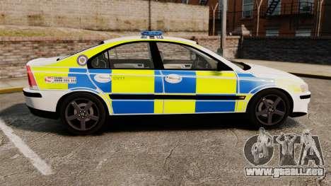 Volvo S60R Police [ELS] para GTA 4 left