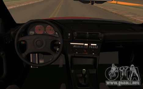 BMW E34 para GTA San Andreas vista hacia atrás