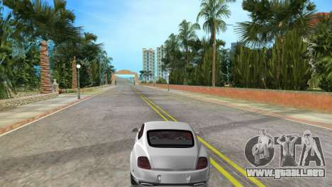 Bentley Continental Extremesports para GTA Vice City vista lateral izquierdo