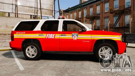 Chevrolet Tahoe Fire Chief v1.4 [ELS] para GTA 4 left