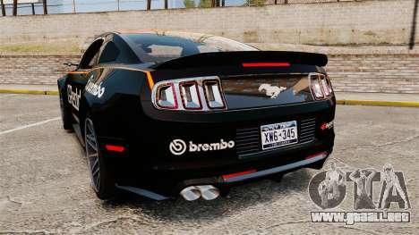 Ford Mustang GT 2013 NFS Edition para GTA 4 Vista posterior izquierda