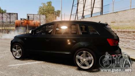Audi Q7 Unmarked Police [ELS] para GTA 4 left