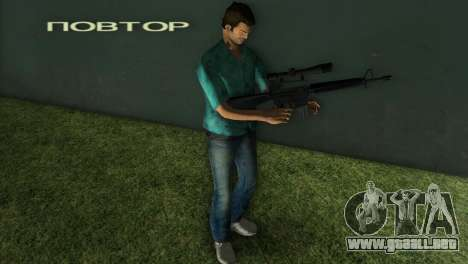 M-16 con un arma de francotirador para GTA Vice City segunda pantalla