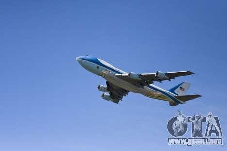 Boeing-747-400 Airforce one para el motor de GTA San Andreas