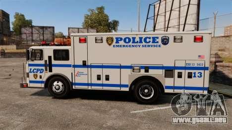 Hazmat Truck LCPD [ELS] para GTA 4 left