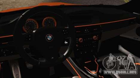 BMW M3 E92 2008 Vossen para visión interna GTA San Andreas