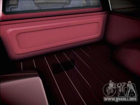 Bobcat insípida XL de GTA V para GTA San Andreas vista hacia atrás