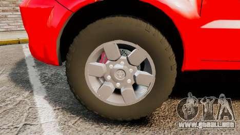 Toyota Hilux FDNY [ELS] para GTA 4 vista hacia atrás