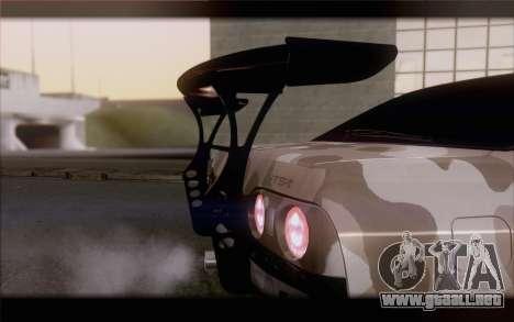 Nissan Skyline GTS Drift Spec para GTA San Andreas vista hacia atrás