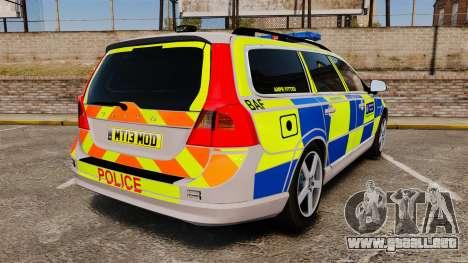 Volvo V70 Metropolitan Police [ELS] para GTA 4 Vista posterior izquierda