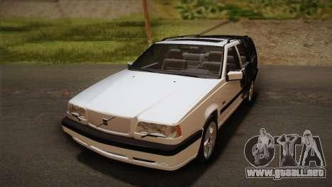 Volvo 850 Estate Turbo 1994 para la vista superior GTA San Andreas