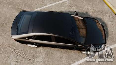 Ford Mondeo Unmarked Police [ELS] para GTA 4 visión correcta