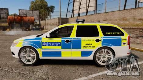 Skoda Octavia Scout RS Metropolitan Police [ELS] para GTA 4 left