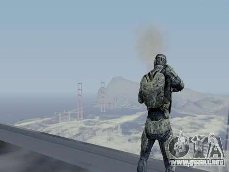 Nano-traje Coreano de Crysis para GTA San Andreas sexta pantalla