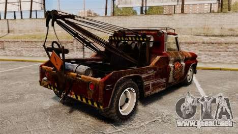 Chevrolet Tow truck rusty Rat rod para GTA 4 Vista posterior izquierda