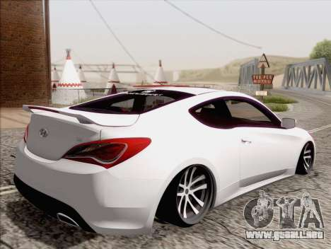 Hyundai Genesis Stance para GTA San Andreas left
