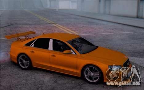 Audi A8 2010 para la visión correcta GTA San Andreas