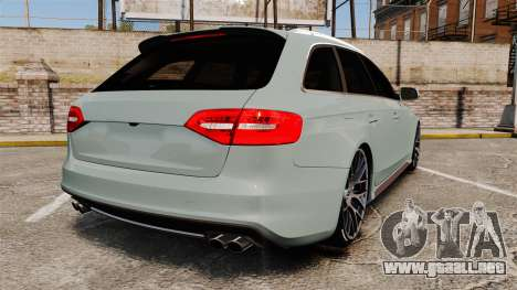 Audi RS4 Avant para GTA 4 Vista posterior izquierda
