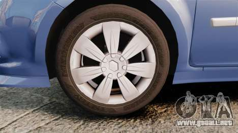 Renault Clio III Phase 2 para GTA 4 vista hacia atrás