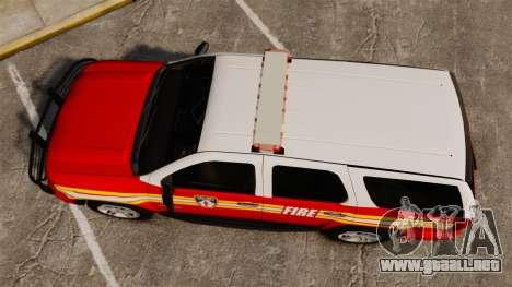 Chevrolet Tahoe Fire Chief v1.4 [ELS] para GTA 4 visión correcta