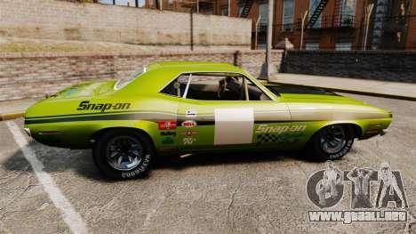 Plymouth Cuda AAR 1970 para GTA 4 left