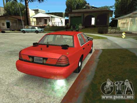 Ford Crown Victoria Unmarked Police para GTA San Andreas left