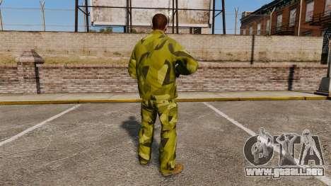 El uniforme de camuflaje sueco para GTA 4 segundos de pantalla