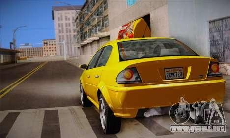 Declasse Premier Taxi para vista lateral GTA San Andreas