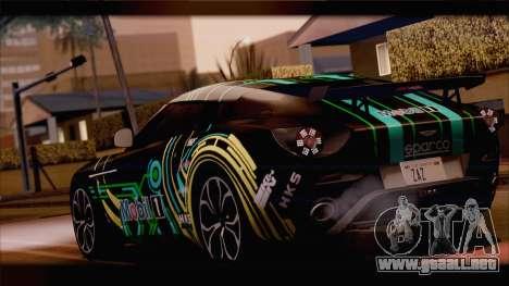 Aston Martin V12 Zagato 2012 [HQLM] para GTA San Andreas vista hacia atrás