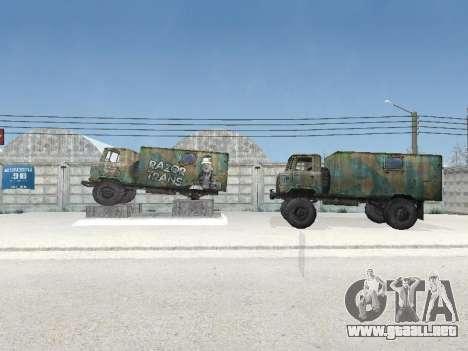 GAZ 66 para visión interna GTA San Andreas