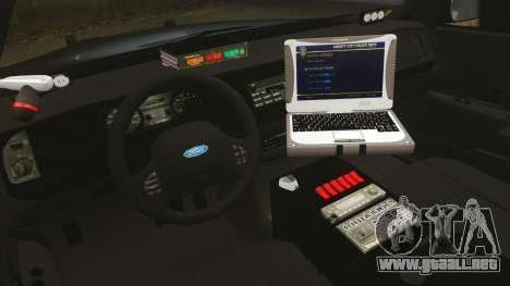 Ford Crown Victoria Stealth [ELS] para GTA 4 vista hacia atrás