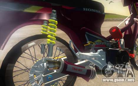 Honda Dream 100 VietNam para GTA San Andreas vista hacia atrás