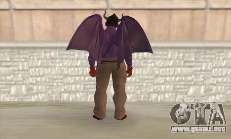 Devil Kazuya Mishima para GTA San Andreas segunda pantalla