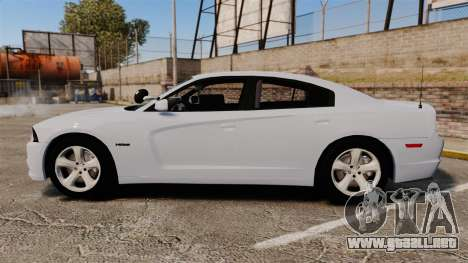 Dodge Charger RT 2012 Unmarked Police [ELS] para GTA 4 left