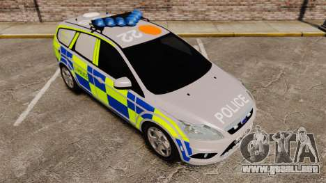 Ford Focus Estate 2009 Police England [ELS] para GTA 4 vista interior