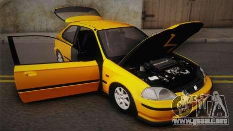 Honda Civic 1.4is TMC para visión interna GTA San Andreas