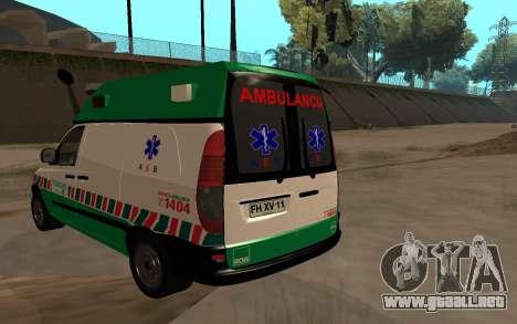 Mercedes-Benz Vito Ambulancia ACHS 2012 para GTA San Andreas left