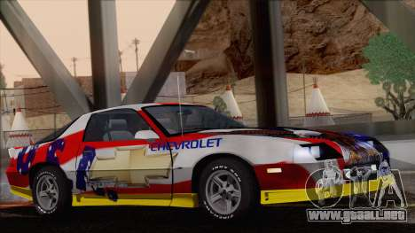 Chevrolet Camaro IROC-Z 1989 FIXED para GTA San Andreas interior