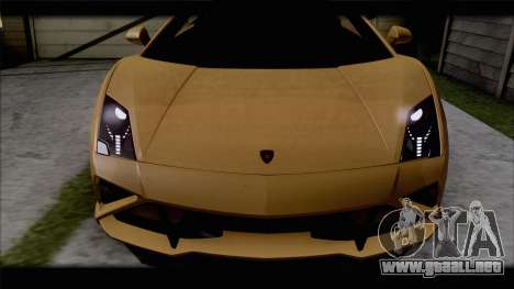 Lamborghini Gallardo LP560-4 Coupe 2013 V1.0 para GTA San Andreas vista hacia atrás