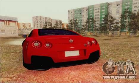 Nissan GT-R Spec V para la vista superior GTA San Andreas