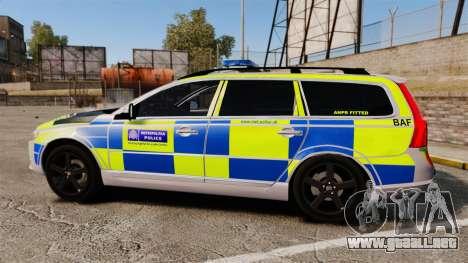 Volvo V70 Metropolitan Police [ELS] para GTA 4 left
