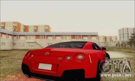 Nissan GT-R Spec V para vista lateral GTA San Andreas