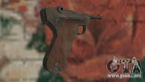 Luger para GTA San Andreas segunda pantalla