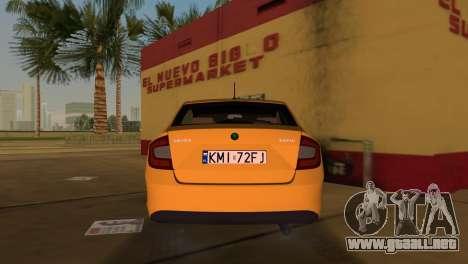 Skoda Rapid 2013 para GTA Vice City vista lateral izquierdo