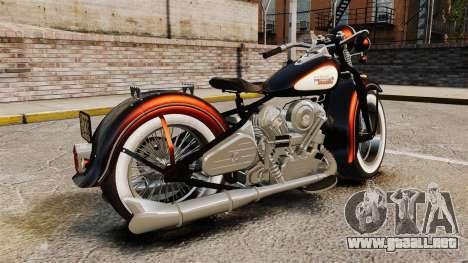 Harley-Davidson Knucklehead 1947 para GTA 4 left